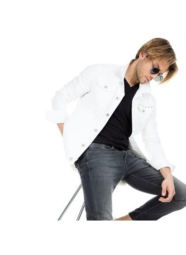Five Pocket Jean Ceket Beyaz
